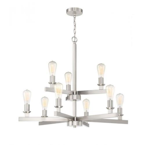 Craftmade Lighting 53129 Chicago - Nine Light Chandelier in Transitional Style - 34 inches wide by 28.5 inches high