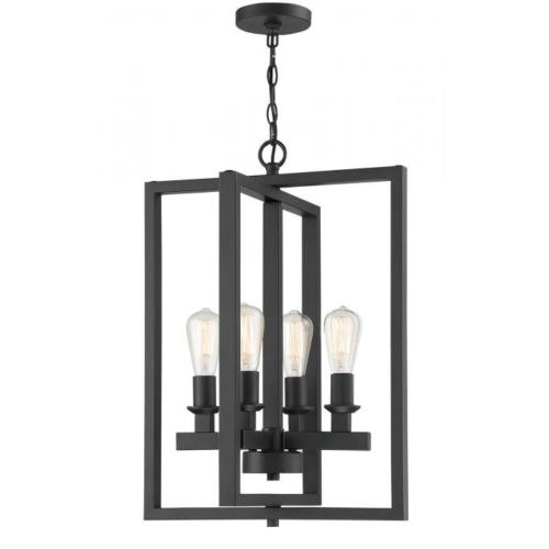 Craftmade Lighting 53134 Chicago - Four Light Foyer in Transitional Style - 18 inches wide by 25.5 inches high