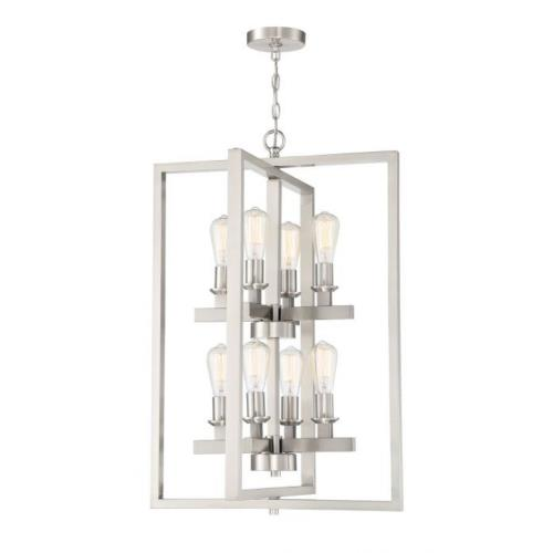 Craftmade Lighting 53138 Chicago - Eight Light Foyer in Transitional Style - 22 inches wide by 33.25 inches high