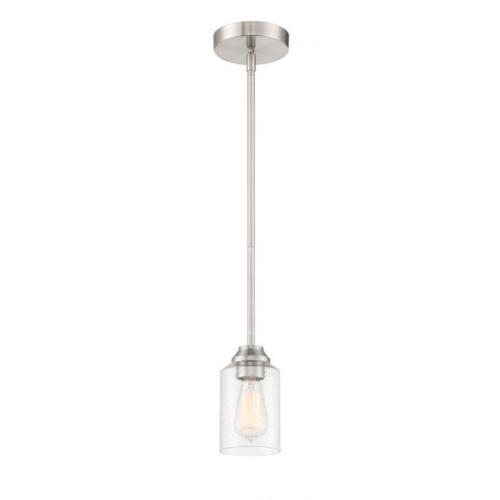 Craftmade Lighting 53191 Chicago - One Light Mini Pendant in Transitional Style - 5 inches wide by 7.75 inches high