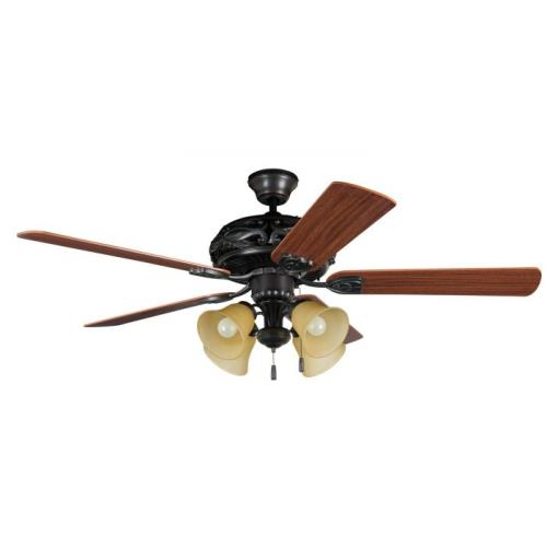 Craftmade Lighting E-GD52ABZ5C Grandeur - Dual Mount Ceiling Fan in Traditional Style - 52 inches wide by 20.75 inches high