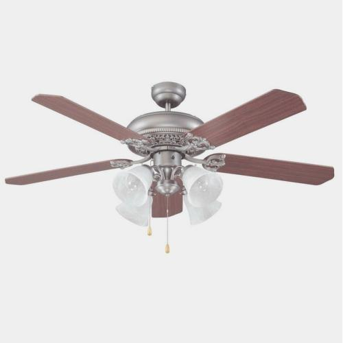 Craftmade Lighting E-MAN52AN5C4 Manor - Dual Mount Ceiling Fan in Traditional Style - 52 inches wide by 19.5 inches high