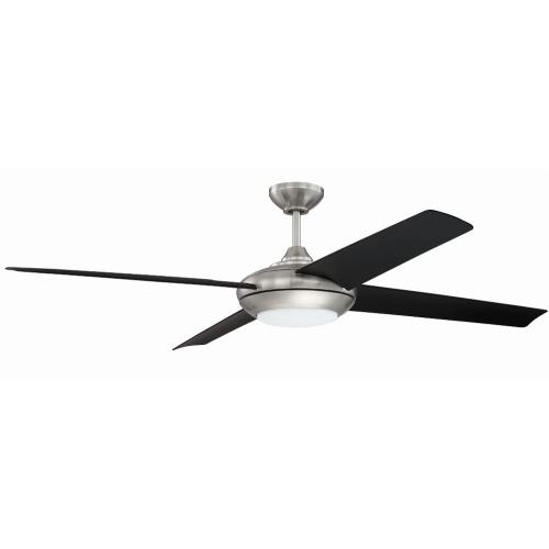 Craftmade Lighting MOD6 Moderne - Ceiling Fan with Light Kit in Transitional Style - 60 inches wide by 14.32 inches high