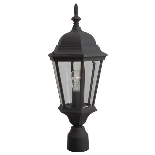 Craftmade Lighting Z255 One Light Outdoor Medium Post Light in Contractor Style - 5.88 inches wide by 22 inches high
