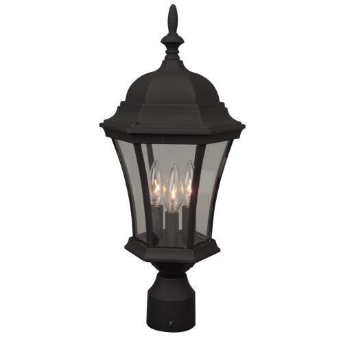 Craftmade Lighting Z345 Three Light Outdoor Post Lantern in Contractor Style - 9.41 inches wide by 21 inches high