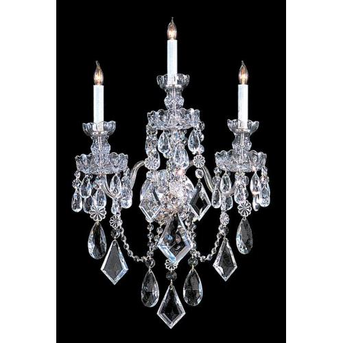 Crystorama Lighting TC-3WS Crystal - 3 Light Wall Sconce in classic, elegant, and casual Style - 15 Inches Wide by 18 Inches High