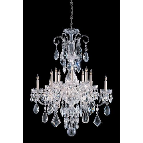 Crystorama Lighting TC-12C Crystal - 12 Light Chandelier in classic, elegant, and casual Style - 42 Inches Wide by 46 Inches High