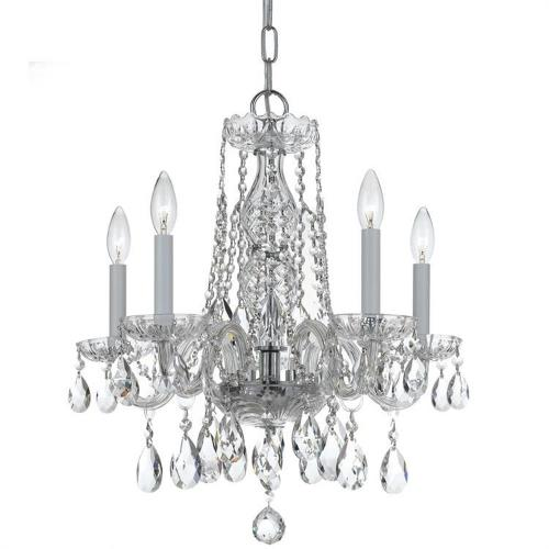 Crystorama Lighting 1061 Traditional Crystal - Five Light Mini Chandelier