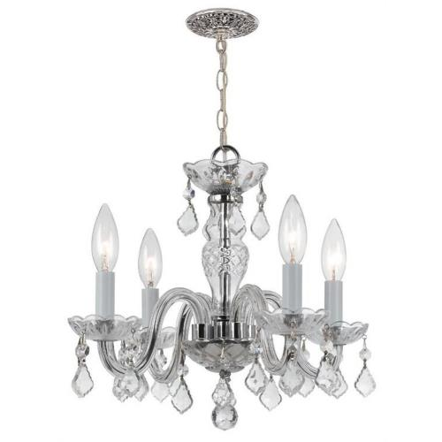 Crystorama Lighting 1064-CH-CL-I Traditional Crystal - Four Light Mini Chandelier