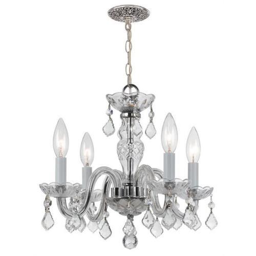 Crystorama Lighting 1064 Traditional Crystal - Four Light Mini Chandelier