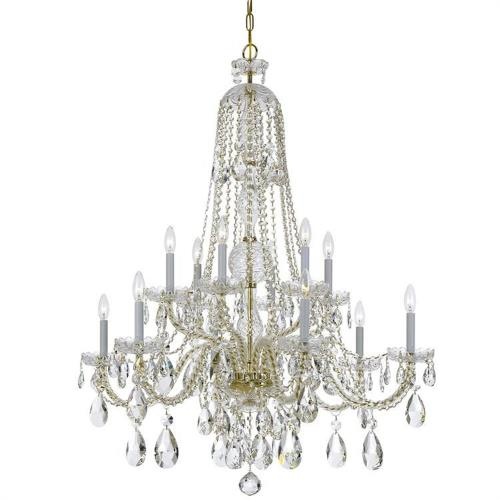 Crystorama Lighting 1112 Traditional Crystal - Six Light Chandelier