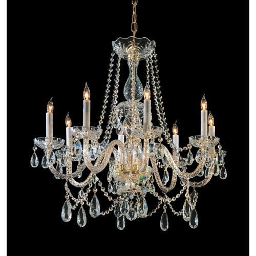 Crystorama Lighting TC-8C Crystal - 8 Light Chandelier in classic, elegant, and casual  Style - 28 Inches Wide by 32 Inches High