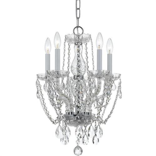 Crystorama Lighting 1129 Crystal - Five Light Chandelier in classic, elegant, and casual Style - 14 Inches Wide by 20 Inches High