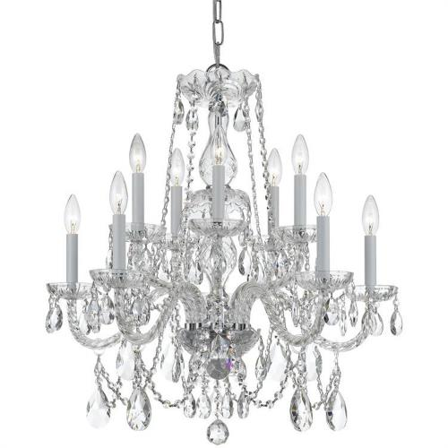 Crystorama Lighting 1130 Crystal - Ten Light Chandelier in classic, elegant, and casual Style - 26 Inches Wide by 26 Inches High