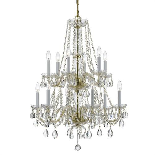 Crystorama Lighting 1137 Crystal - Six Light Chandelier in classic, elegant, and casual Style - 26 Inches Wide by 32 Inches High
