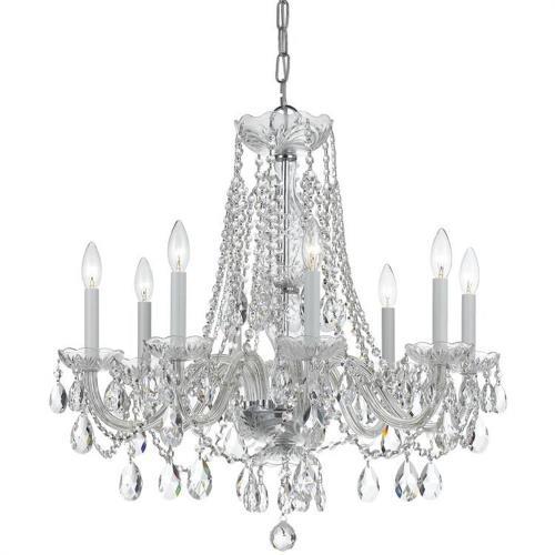 Crystorama Lighting 1138 Traditional Crystal - Eight Light Chandelier