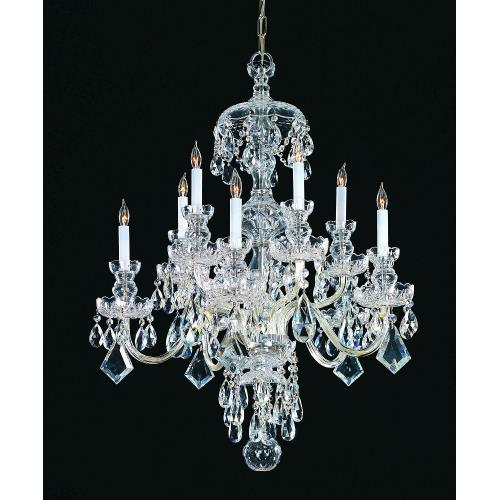 Crystorama Lighting TC-10C Crystal - 10 Light Chandelier in classic, elegant, and casual Style - 36 Inches Wide by 46 Inches High