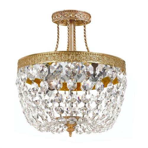 Crystorama Lighting 119-10 Richmond - 3 Light Ceiling Mount in traditional and contemporary Style - 10 Inches Wide by 12 Inches High