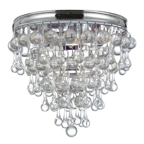 Crystorama Lighting 135 Calypso Transitional 3 Light Ceiling Mount in minimalist  Style - 10.5 Inches Wide by 9.5 Inches High