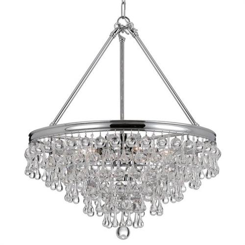 Crystorama Lighting 136 Calypso - Six Light Chandelier