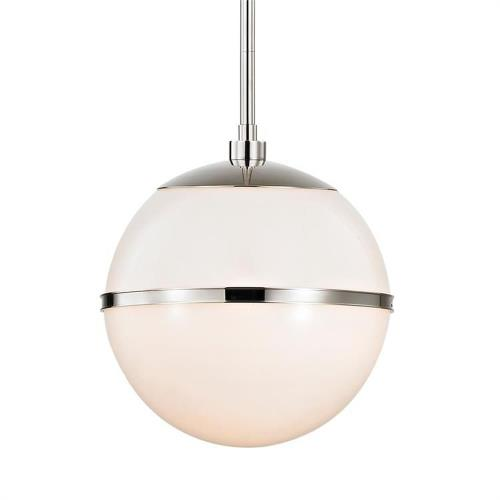 Crystorama Lighting 2112 Truax - One Light Pendant in classic, elegant, and casual Style - 12 Inches Wide by 17 Inches High