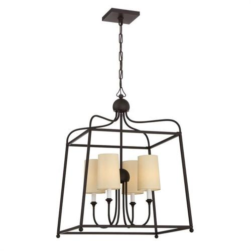 Crystorama Lighting 2244-DB Sylvan - Four Light Chandelier