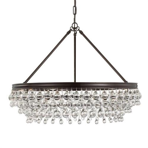 Crystorama Lighting 275 Calypso - Six Light Chandelier in traditional and contemporary Style - 30 Inches Wide by 20 Inches High