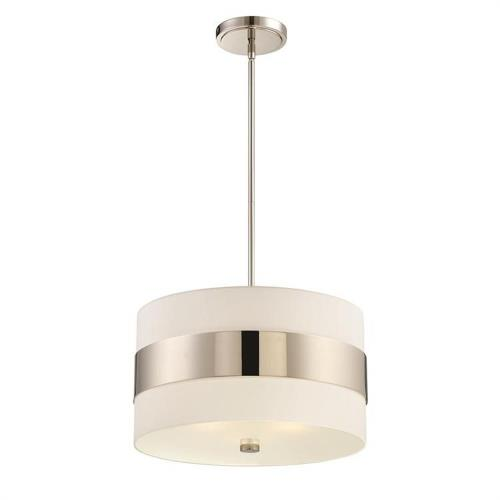 Crystorama Lighting 295 Grayson - Three Light Pendant in classic, elegant, and casual Style - 18 Inches Wide by 10 Inches High