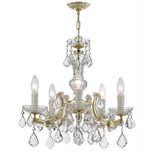 Crystorama Lighting 4376 Maria Theresa - Five Light Chandelier in natural, organic, and raw Style - 20 Inches Wide by 19 Inches High