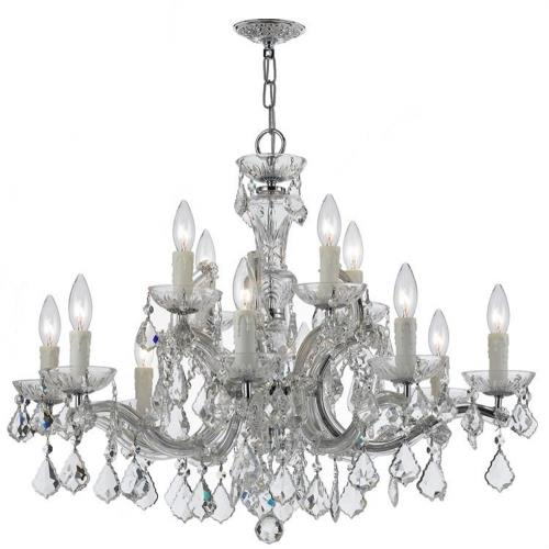 Crystorama Lighting 4379 Maria Theresa - Twelve Light Chandelier in natural, organic, and raw Style - 30 Inches Wide by 23 Inches High