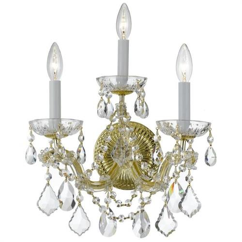 Crystorama Lighting 4403 Maria Theresa - Three Light Wall Sconce in Classic Style - 14 Inches Wide by 14 Inches High