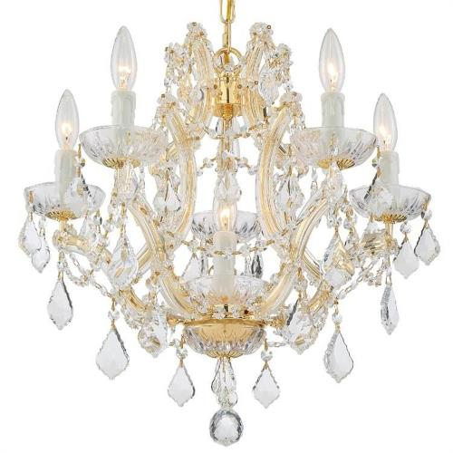 Crystorama Lighting 4405 Maria Theresa - Six Light Mini Chandelier in classic, elegant, and casual Style - 20 Inches Wide by 17 Inches High