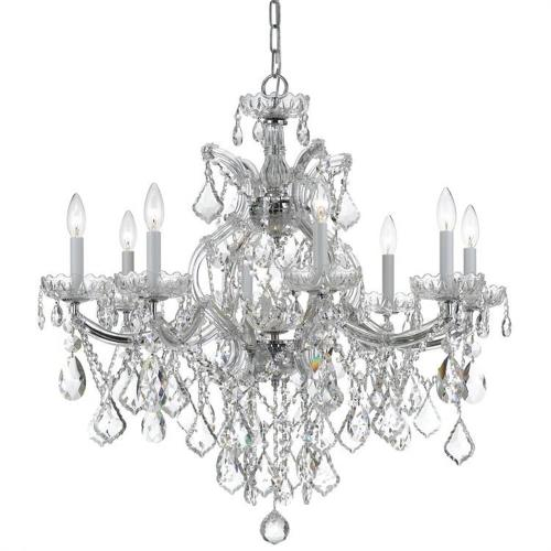 Crystorama Lighting 4409 Maria Theresa - Eight Light Chandelier in classic, elegant, and casual Style - 28 Inches Wide by 27 Inches High