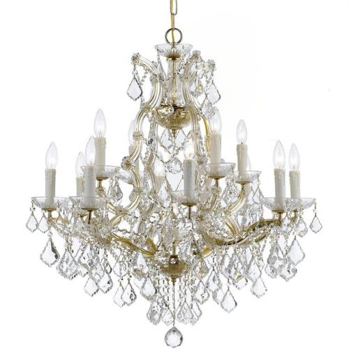 Crystorama Lighting 4412 Maria Theresa - Twelve Light Chandelier in natural, organic, and raw Style - 29 Inches Wide by 30 Inches High