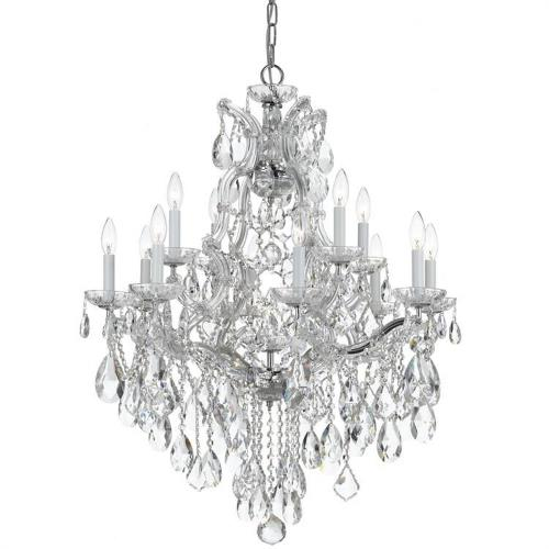 Crystorama Lighting 4413 Maria Theresa - Twelve Light Chandelier in traditional and contemporary Style - 28 Inches Wide by 32 Inches High