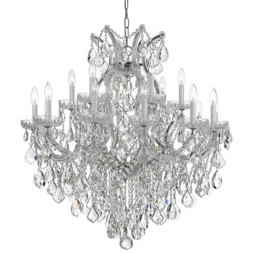 Crystorama Lighting 4418 Maria Theresa - Eightteen Light Chandelier in classic, elegant, and casual Style - 35 Inches Wide by 36 Inches High