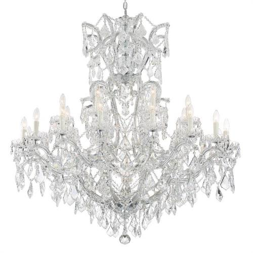 Crystorama Lighting 4424 Maria Theresa - Twenty Four Light Chandelier in natural, organic, and raw Style - 46 Inches Wide by 48 Inches High