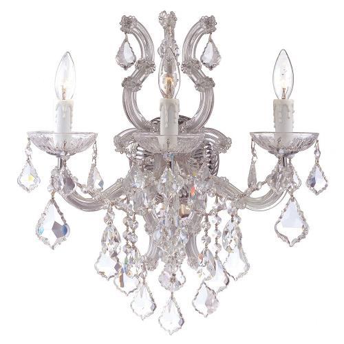 Crystorama Lighting 4433 Maria Theresa - Three Light Wall Sconce