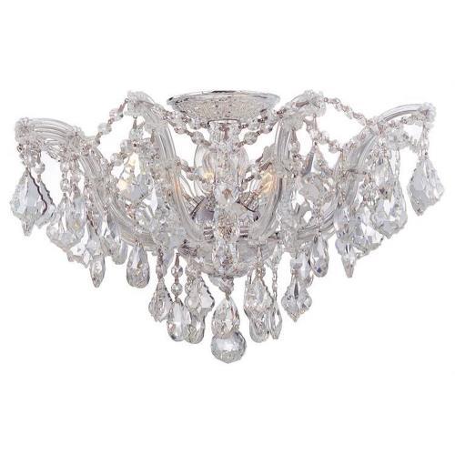 Crystorama Lighting 4437 Maria Theresa Collection Crystal 5 Light Ceiling Mount