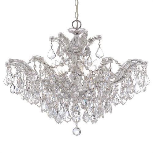 Crystorama Lighting 4439 Maria Theresa - Six Light Chandelier in natural, organic, and raw Style - 27 Inches Wide by 20 Inches High