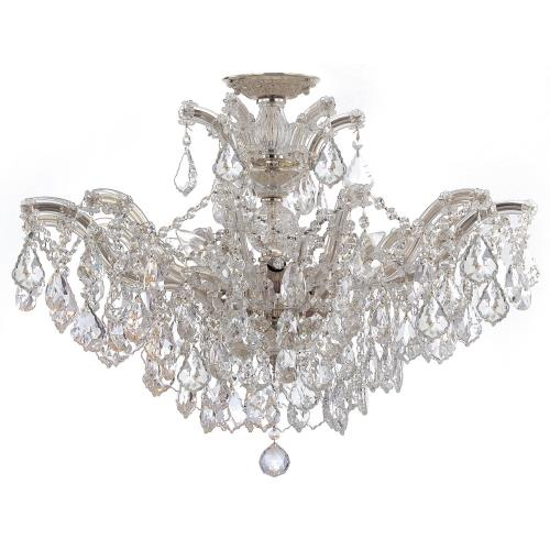 Crystorama Lighting 4439_CEILING Maria Theresa - Six Light Semi-Flush Mount in classic, elegant, and casual Style - 27 Inches Wide by 20 Inches High