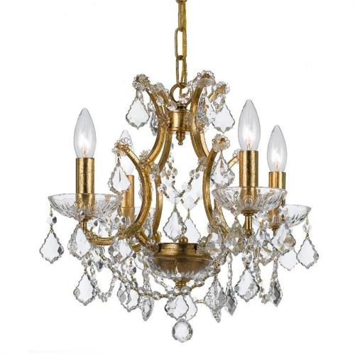 Crystorama Lighting 4454 Filmore - Four Light Chandelier in traditional and contemporary Style - 17.5 Inches Wide by 12.5 Inches High