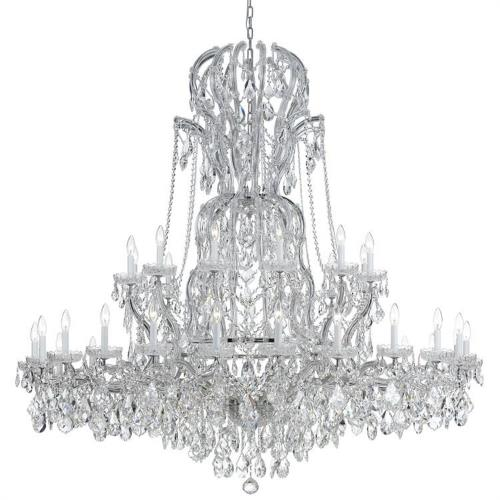 Crystorama Lighting 4460 Maria Theresa - Three Six Light Chandelier in natural, organic, and raw Style - 64 Inches Wide by 66 Inches High