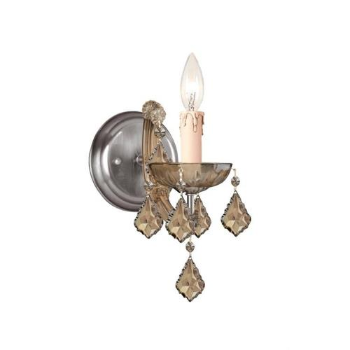 Crystorama Lighting 4471 Maria Theresa - 1 Light Wall Mount in classic, elegant, and casual Style - 5 Inches Wide by 11.5 Inches High
