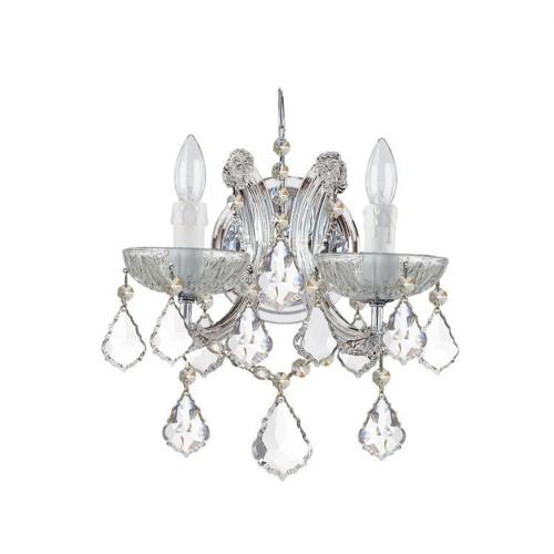 Crystorama Lighting 4472 Maria Theresa - Two Light Wall Sconce in classic, elegant, and casual Style - 10.5 Inches Wide by 12.5 Inches High