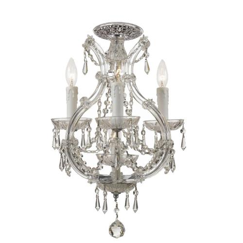 Crystorama Lighting 4473_CEILING Maria Theresa - Four Light Flush Mount in classic, elegant, and casual Style - 12 Inches Wide by 21 Inches High