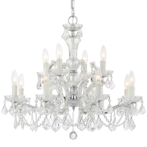 Crystorama Lighting 4479 Maria Theresa - Twelve Light 2-Tier Chandelier in Classic Style - 29 Inches Wide by 25.5 Inches High