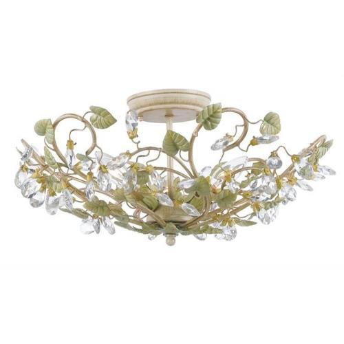 Crystorama Lighting 4840 Josie Floral 3 Light Ceiling Mount