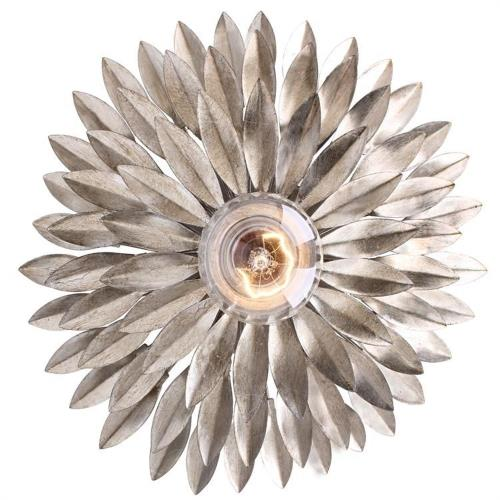 Crystorama Lighting 500 Broche - One Light Sconce in traditional and contemporary Style - 11 Inches Wide by 11 Inches High