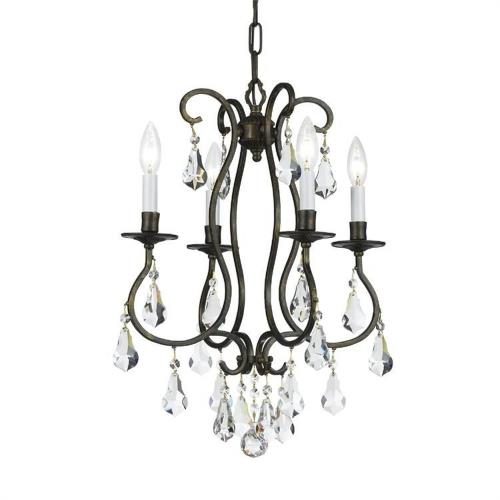 Crystorama Lighting 5014 Ashton - Four Light Mini Chandelier